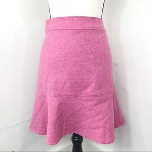 ⚡️ GAP Pink Wool Blend Flared Hem 90s Skirt 12